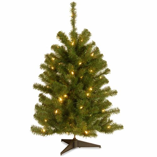 3' Pre-Lit Eastern Spruce Artificial Christmas Tree - Clear Lights - IMAGE 1