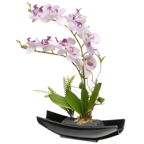 """15"""" Potted Artificial Orchid Flowers - IMAGE 1"""