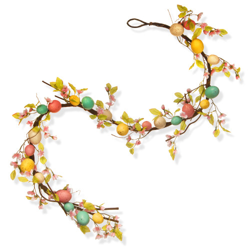 "72"" Easter Egg Artificial Garland - IMAGE 1"