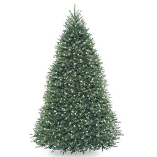 9' Pre-Lit Dunhill Blue Fir Hinged Artificial Christmas Tree - Clear Lights - IMAGE 1