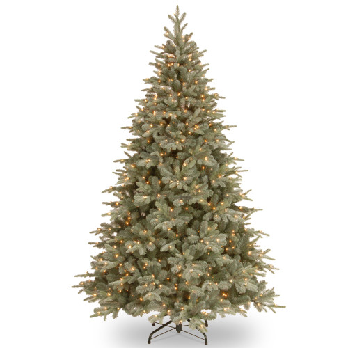 7.5' Pre-Lit Frosted Arctic Spruce Artificial Christmas Tree – Clear Lights - IMAGE 1