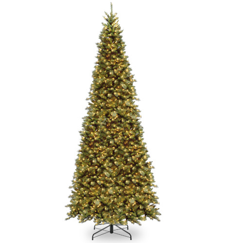 12' Pre-Lit Tiffany Fir Artificial Christmas Tree - Clear Lights - IMAGE 1