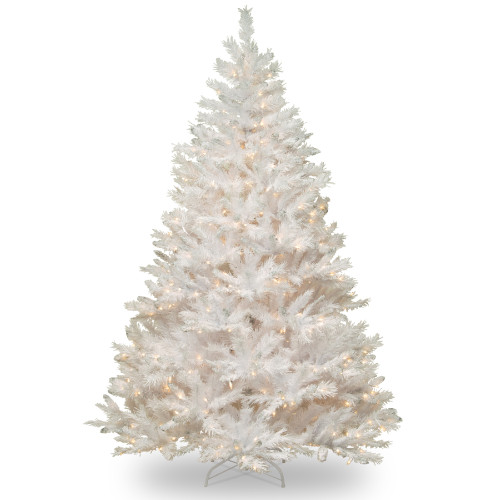 6.5' White Winchester Pine Artificial Christmas Tree - Clear Lights - IMAGE 1