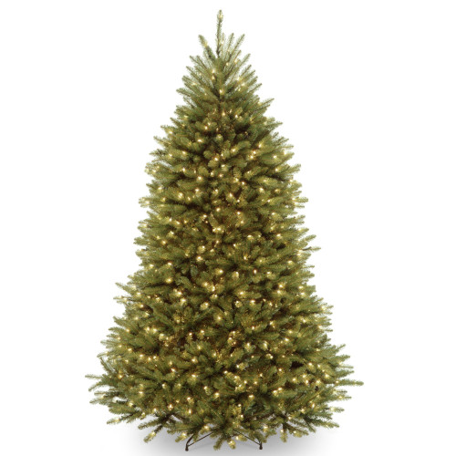 7. ft. Pre-lit Dunhill Artificial Christmas Tree with Clear Lights - IMAGE 1