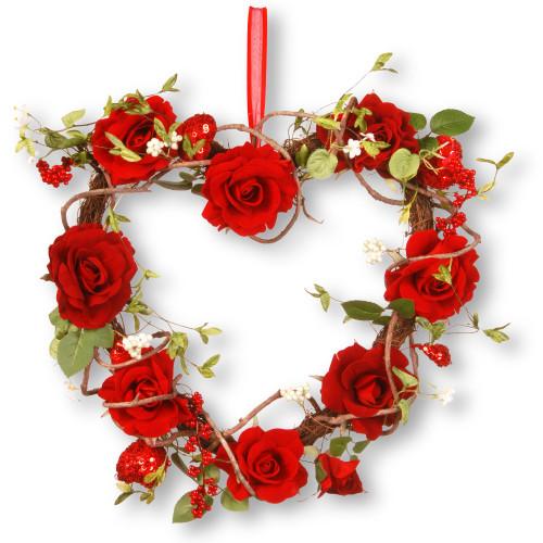 "20"" Rose Valentine Heart - IMAGE 1"