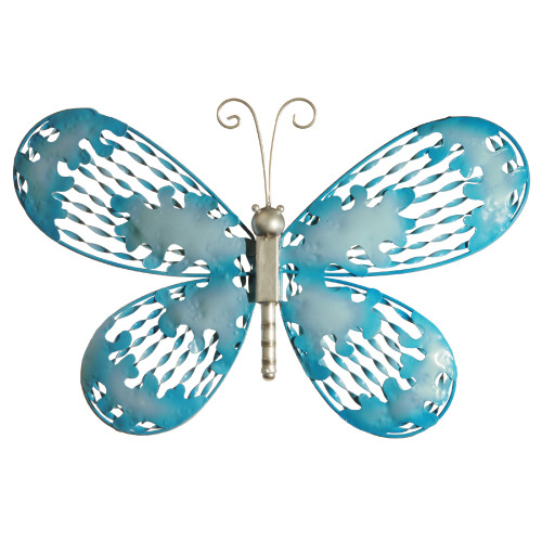 """18"""" Blue Butterfly Wall Decoration - IMAGE 1"""