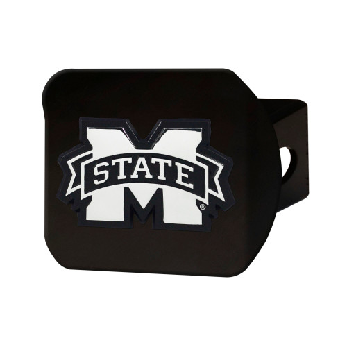 NCAA Mississippi State University Bulldogs Black Hitch Cover Automotive Accessory - IMAGE 1
