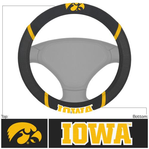 NCAA University of Iowa Hawkeyes Steering Wheel Cover Automotive Accessory - IMAGE 1