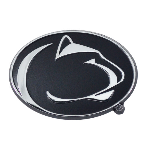 """Set of 2 Black and White NCAA Penn State Nittany Lions Automotive Stick-On Car Decals 2"""" x 3"""" - IMAGE 1"""