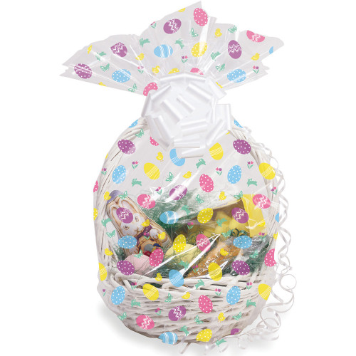 """Club Pack of 12 White and Pink Easter Egg Baskets 25"""" - IMAGE 1"""