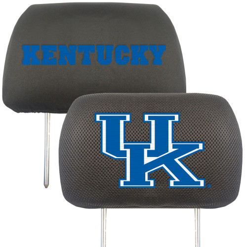 NCAA University of Kentucky Wildcats Head Rest Cover Automotive Accessory - IMAGE 1