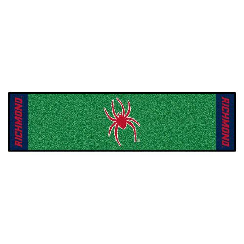 "18"" x 72"" Green NCAA University of Richmond Spiders Putting Golf Mat - IMAGE 1"