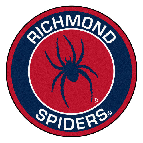 """27"""" Blue and Red NCAA University of Richmond Spiders Round Door Mat - IMAGE 1"""