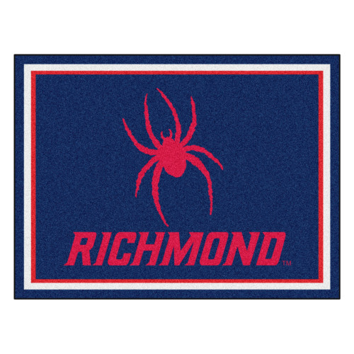 7.25' x 9.75' Red and Blue NCAA University of Richmond Spiders Non-Skid Plush Area Rug - IMAGE 1