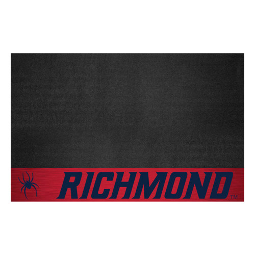 """26"""" x 42"""" Black and Pink NCAA University of Richmond Spiders Grill Mat Area Rug - IMAGE 1"""