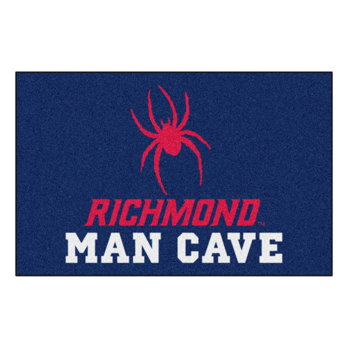 """19"""" x 30"""" Blue and Red NCAA University of Richmond Spiders Man Cave Starter Mat Rectangular Area Rug - IMAGE 1"""