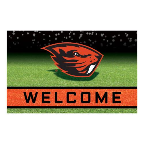 "18"" x 30"" Orange and Black NCAA Oregon State University Beavers Door Mat - IMAGE 1"