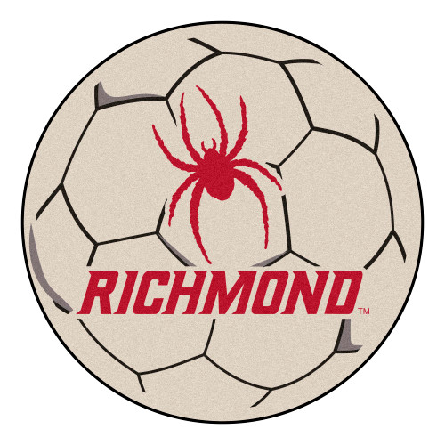 """27"""" Red and Black NCAA University of Richmond Spiders Soccer Ball Mat - IMAGE 1"""