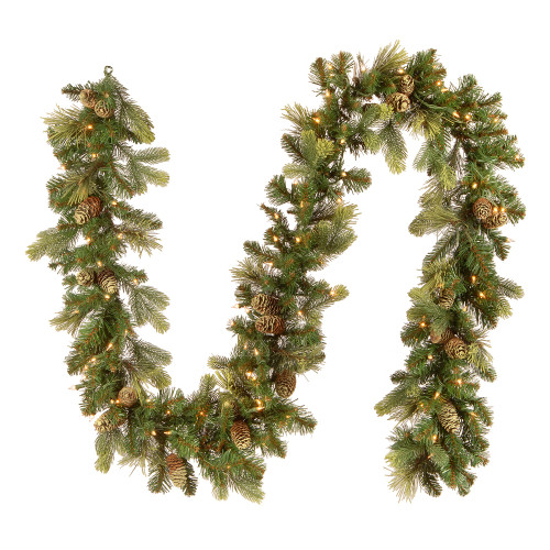 9 ft. Carolina Pine Garland with Clear Lights - IMAGE 1