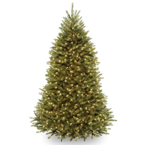 7' Pre-Lit Dunhill Fir Artificial Christmas Tree – Multi-Color/Warm White LED Lights - IMAGE 1