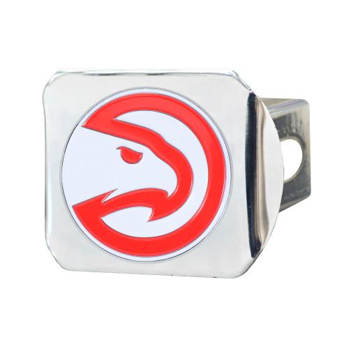 "4"" Silver NBA Atlanta Hawks Class III Hitch Cover Auto Accessory - IMAGE 1"