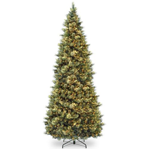 10 ft. Carolina Pine Slim Tree with Clear Lights - IMAGE 1