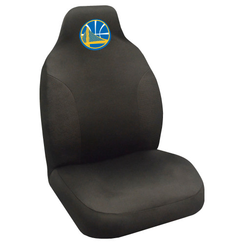 """20"""" x 48"""" Black and Blue NBA Golden State Warriors Seat Cover Automotive Accessory - IMAGE 1"""