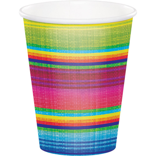 """Club Pack of 96 Pink and Green Disposable Serape Hot/Cold Cups 5.6"""" - IMAGE 1"""