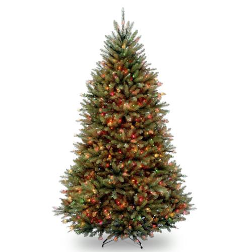 7' Pre-Lit Dunhill Fir Artificial Christmas Tree - Multi-Color Lights - IMAGE 1