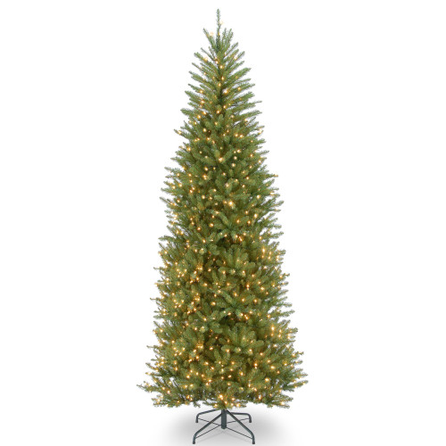 10' Pre-lit Dunhill Fir Slim Artificial Christmas Tree –Clear Lights - IMAGE 1