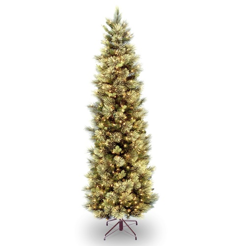 6.5 ft. Carolina Pine Slim Tree with Clear Lights - IMAGE 1