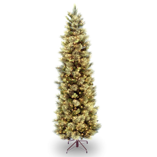 9 ft. Carolina Pine Slim Tree with Clear Lights - IMAGE 1