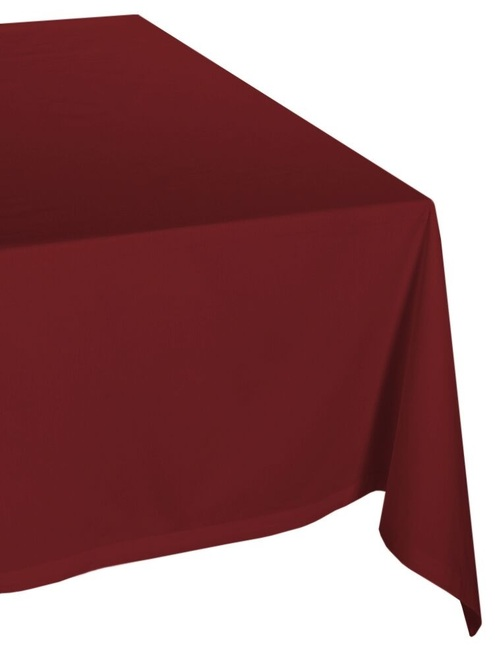 """72"""" Brown Solid Seamless Rectangular Table Cloth - IMAGE 1"""