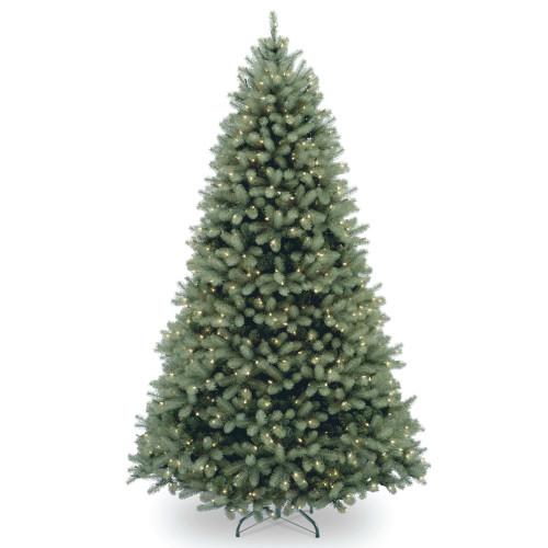 6.5' Pre-Lit Downswept Douglas Blue Fir Artificial Christmas Tree - Clear Lights - IMAGE 1