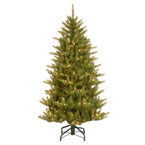 4.5' Pre-Lit Natural Fraser Slim Artificial Christmas Tree – Clear Lights - IMAGE 1