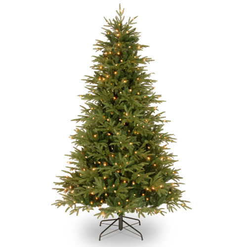 7.5' Pre-Lit Victoria Fir Artificial Christmas Tree - Clear Lights - IMAGE 1