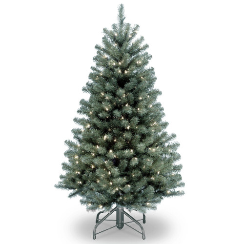 4.5' Pre-Lit North Valley Spruce Artificial Christmas Tree - Clear Lights - IMAGE 1