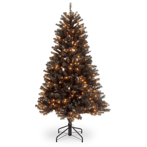 4.5' Pre-Lit North Valley Black Spruce Artificial Christmas Tree - Clear Lights - IMAGE 1