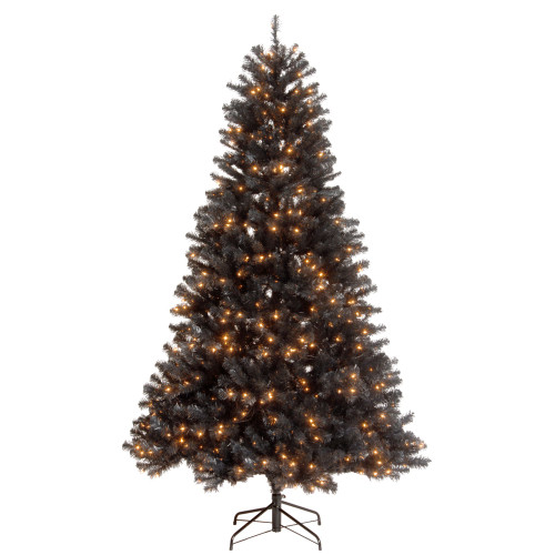 7.5' Pre-Lit North Valley Black Spruce Artificial Christmas Tree - Clear Lights - IMAGE 1