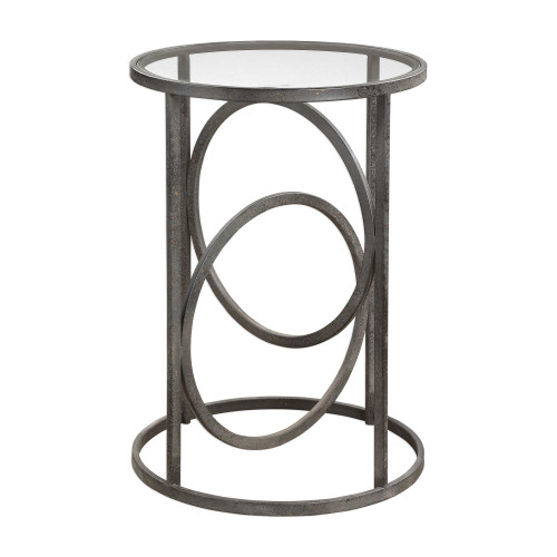 """24.75"""" Lucien Iron Accent Table - IMAGE 1"""
