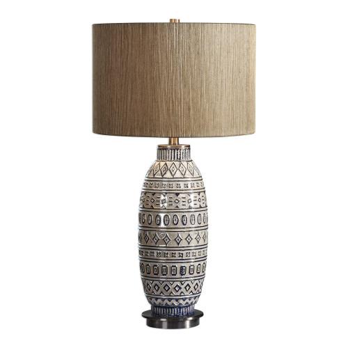 "30.25"" Lokni Aged Ivory Table Lamp - IMAGE 1"