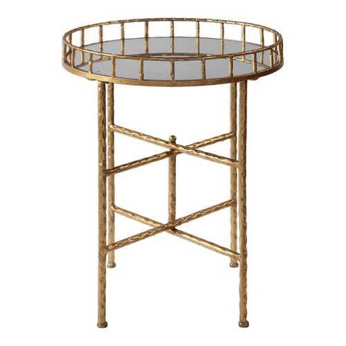 """25.75"""" Tilly Bright Gold Accent Table - IMAGE 1"""