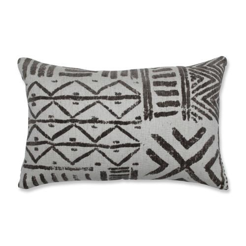 "18.5"" Gray Chenille Contemporary Rectangular Throw Pillow - IMAGE 1"