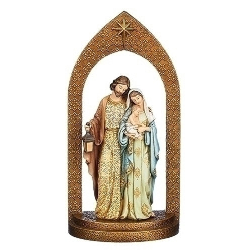 """12"""" Holy Family in Arch Figurine - IMAGE 1"""