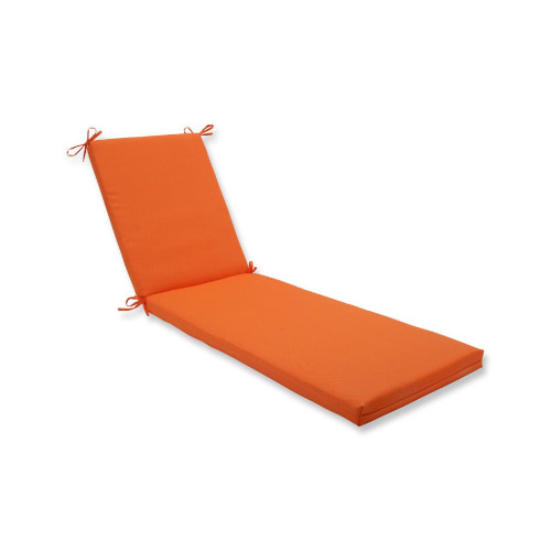 """80"""" Orange UV/Fade Resistant Outdoor Patio Rectangular Chaise Lounge Cushion with Ties - IMAGE 1"""