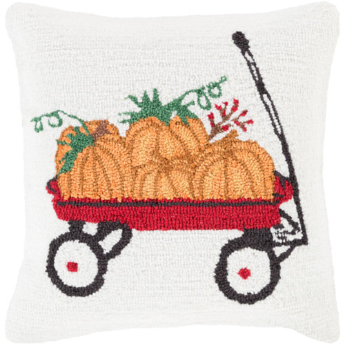 """18"""" Rust Orange and Devil Red Decorative Pumpkin Patch Throw Pillow Cover - IMAGE 1"""