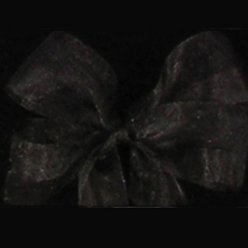 "Black and Charcoal Gray Craft Ribbon 3"" x 55 Yards - IMAGE 1"