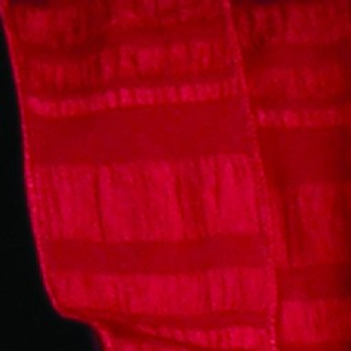 """Red Contemporary Striped Wired Craft Ribbon 2"""" x 20 Yards - IMAGE 1"""