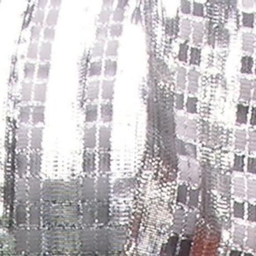 """Silver Checkered Abby French Wired Edge Craft Ribbon 1.5"""" x 27 Yards - IMAGE 1"""
