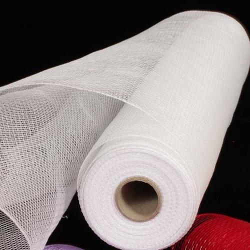 "White Decorating Mesh Craft Ribbon 21"" x 60 Yards - IMAGE 1"
